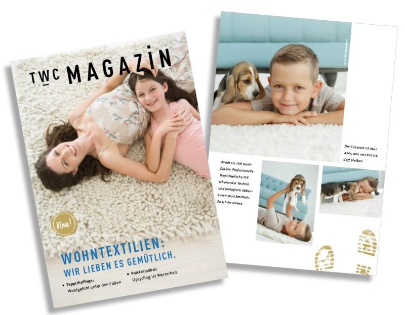 Kundenmagazin für die Pflege von Heimtextilien